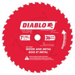"""7-1/4"""" x 36T Wood And Metal Blade"""