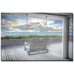 """22"""" x 28"""" Swing At The Beach Canvas"""