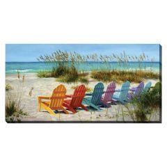 "20"" x 40"" Adirondack Chairs Canvas"