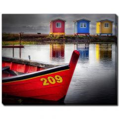 """22"""" x 28"""" One Dory Three Sheds Canvas"""