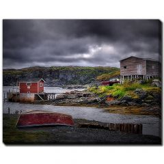 """22"""" x 28"""" Red Stage Red Dory Grey Stage Canvas"""