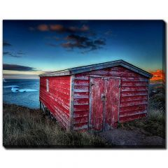 """22"""" x 28"""" Shed Berg Evening 4 Canvas"""