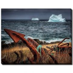 """22"""" x 28"""" Anchor Two Icebergs 2 Canvas"""