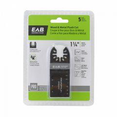 "1-1/4"" Bimetal Flush Cut Blade (Wood And Metal) 5 Pack Profe"