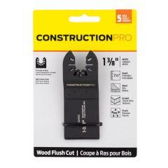 "1-3/8"" HCS Construction Pro Flush Cut (Wood) 5 Pack  Oscilla"
