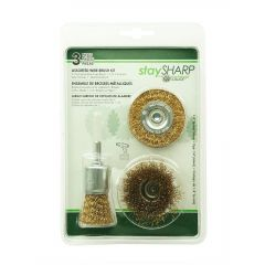 """1/4"""" Brass Wire Brushes 3 Pack - Recyclable"""