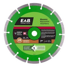 "7"" Segmented Green Diamond Blade - Exchangeable"