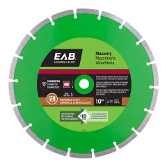 "10"" Segmented Green Diamond Blade - Exchangeable"