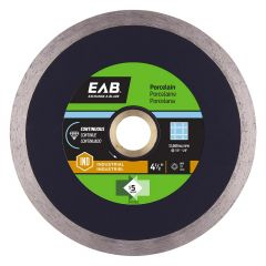 "4-1/2"" Continuous Porcelain Black Industrial Diamond Blade -"