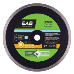 "7"" Continuous Porcelain Black Industrial Diamond Blade - Exc"