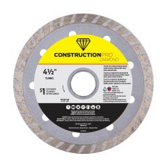"4-1/2"" Turbo Construction Pro Diamond Blade - Exchangeable"