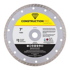 "7"" Turbo Construction Pro Diamond Blade - Exchangeable"