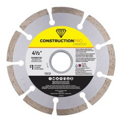 "4-1/2"" Segmented Construction Pro Diamond Blade - Exchangeab"