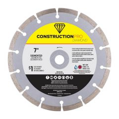 "7"" Segmented Construction Pro Diamond Blade - Exchangeable"
