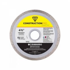 "4-1/2"" Continuous Construction Pro Diamond Blade - Exchangea"