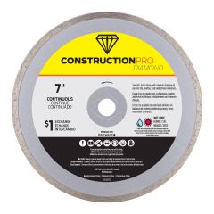 "7"" Continuous Construction Pro Diamond Blade - Exchangeable"
