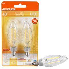 4 Watt Dimmable Candelabra Base LED B10 Bulb-2/Pack