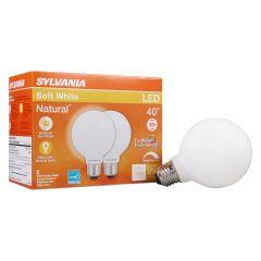 4.5 Watt Dimmable Medium Base LED G25 Bulb-2/Pack