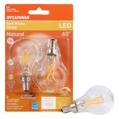 5.5 Watt Dimmable Candelabra Base LED A15, Bulb-2/Pack