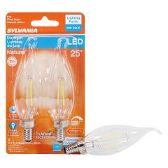 3 Watt Dimmable Candelabra Base LED B10 Bulb-2/Pack
