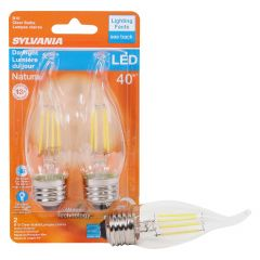 4 Watt Dimmable Medium Base LED B10 Bulb-2/Pack