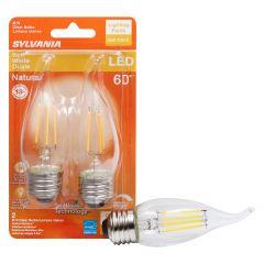 5.5 Watt Dimmable Medium Base LED B10 Bulb-2/Pack