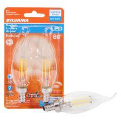 5.5 Watt Dimmable Candelabra Base LED B10 Bulb-2/Pack