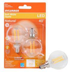 4 Watt Dimmable Candelabra Base LED G16.5 Bulb-2/Pack