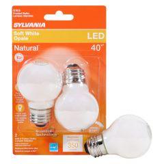4.5 Watt Dimmable Medium Base LED G16.5 Bulb-2/Pack
