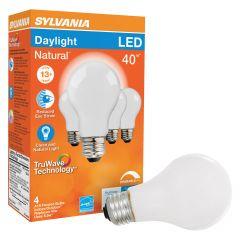 5.5 Watt Dimmable Medium Base LED A19-4/Pack