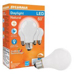 8 Watt Dimmable 15000 Life Medium Base LED  A19 Bulb-4/Pack