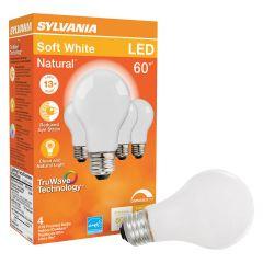 8 Watt Dimmable E26 Base LED A19 Bulb-4/Pack