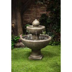 """31"""" Round Two Tier Fountain"""
