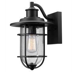 Turner 1-Light Outdoor Wall Lantern Sconce-Black