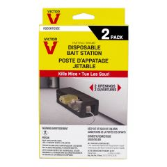 Victor Fast Kill Disposable Mouse Bait Station-2/Pack