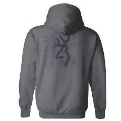 Browning Mens Crosshatch BM Sweatshirt Charcoal