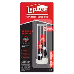LePage Super Glue Liquid 2mL-2/Pack