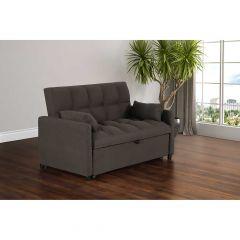 """56.5"""" Viola Brown Sofa Bed"""
