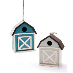 Blue Barn Birdhouse