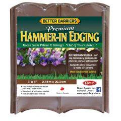 Brown Premium Hammer-In Edging