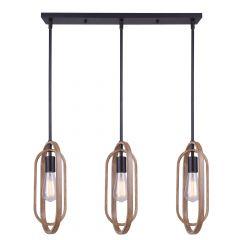 Dilan Brushed Brown 3 Light Pendant