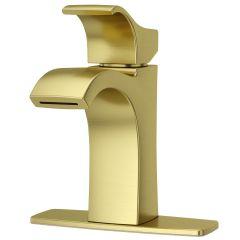 Lavatory Faucet Venturi Single Handle Brushed Gold