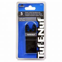 "1-1/4"" Wood/Metal Oscillating Blade Set-5/Pack"