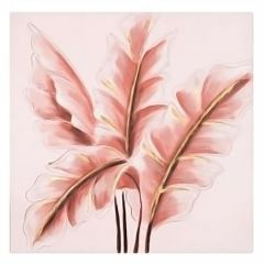 Pink Foliage Canvas Art