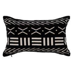 Black Cushion With White