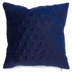 Royal Blue Stitched Velvet Cushion