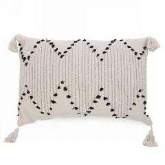 Cushion With Black Tassel Trim