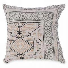 Pink And Grey Motif Cushion