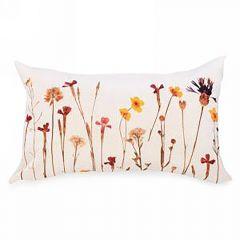 Rectangle Autumn Floral Print Cushion