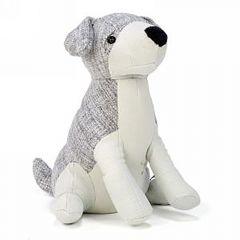 Grey And Beige Dog Doorstopper